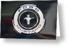 Ford Mustang Emblem Greeting Card