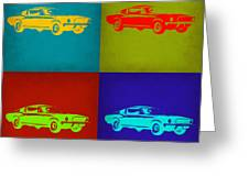 Ford Mustang Pop Art 1 Greeting Card