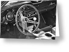 Ford Mustang Shelby In Black And White Greeting Card