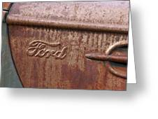 Ford Name Plate Greeting Card