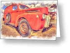 Ford Panel Truck Greeting Card