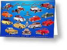 Another Ford Poster Greeting Card