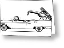 Retractable Ford Top Going Down Greeting Card