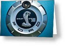 Ford Shelby Gt 500 Cobra Emblem Greeting Card