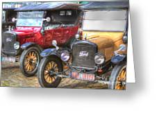 Ford-t  Mobiles Of The 20th Greeting Card