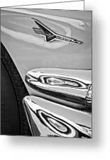 Ford Thunderbird Emblem -0505bw Greeting Card