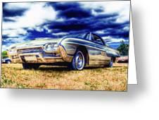 Ford Thunderbird Hdr Greeting Card