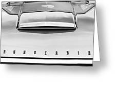 Ford Thunderbird Monochrome Greeting Card