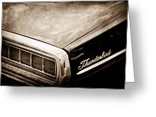 Ford Thunderbird Taillight Emblem Greeting Card