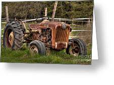 Ford Tractor Greeting Card by Alana Ranney