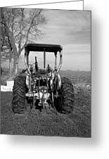 Ford Tractor Rear View Greeting Card