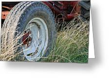 Ford Tractor Tire Greeting Card
