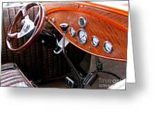 Ford V8 Dashboard Greeting Card