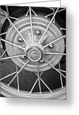 Ford Wheel Emblem -354bw Greeting Card