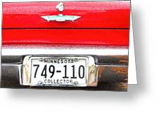 Ford With Minnesota Licence Plate Greeting Card