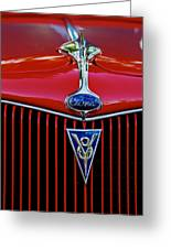Ford's V8 Greeting Card