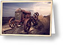 Fordson F Tractor Greeting Card