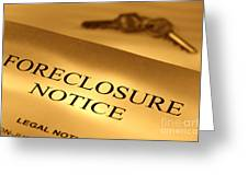 Foreclosure Notice Greeting Card by Olivier Le Queinec
