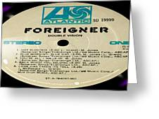 Foreigner Double Vision Side 1 Greeting Card