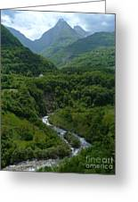 Moraca River And Mountains Greeting Card