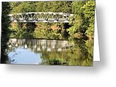 Forest Bridge Greeting Card by Dan Sproul