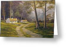 Forest Cottages Greeting Card