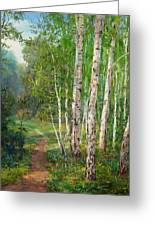 Russian Forest Footpath Greeting Card