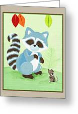 Forest Friends - Raccoon  Greeting Card