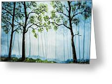 Forest Haze Greeting Card