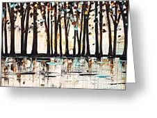 Forest In Abstract Greeting Card