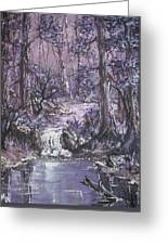 Forest In Lavender Greeting Card