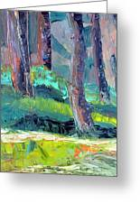 Forest In Motion Greeting Card