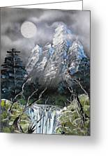Forest Moon Greeting Card
