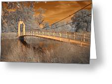 Forest Park Bridge Infrared Greeting Card