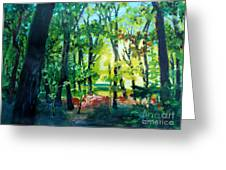 Forest Scene 1 Greeting Card