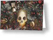 Forest Skull Pop Art Greeting Card