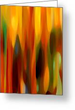 Forest Sunlight Vertical Greeting Card