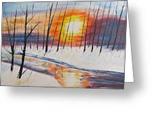 Forest Sunset Greeting Card
