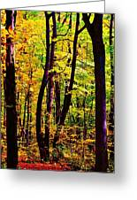 Forest Waves Greeting Card