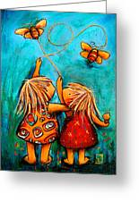 Forever Friends Greeting Card by Karin Taylor