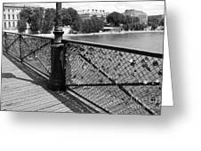 Forever Love In Paris - Black And White Greeting Card