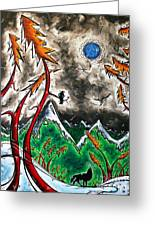 Forever Wild Original Madart Painting Greeting Card