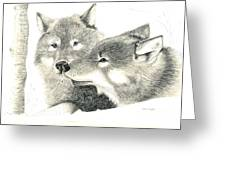 Forever Wolf Love-the Greeting Greeting Card