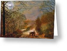 Forge Valley Near Scarborough Greeting Card by John Atkinson Grimshaw
