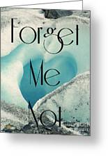 Forget Me Not Greeting Card by Jennifer Kimberly