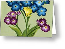 Forget Me Nots And Butterflies Greeting Card
