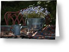Forget-me-nots And Small Watering Can  Greeting Card