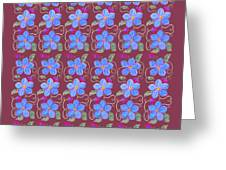Forgetmenot Pattern On Marsala In Square Greeting Card