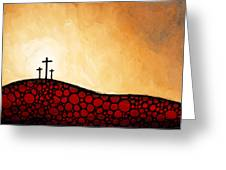 Forgiven - Christian Art By Sharon Cummings Greeting Card