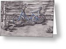 Forgotten Banana Seat Bike Greeting Card